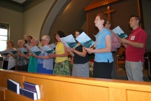 An ad hoc choir (Sept 2014)