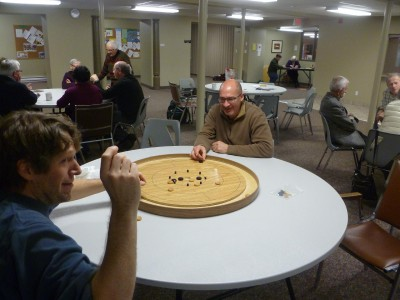 Crokinole can get heated - who knew?