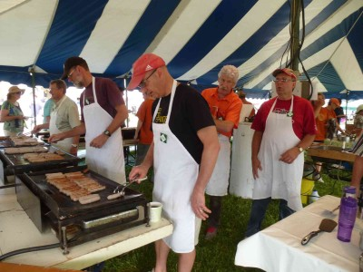 Everyone gets their turn at the griddle