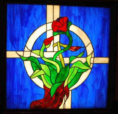 New stained-glass window box that was commissioned this year.